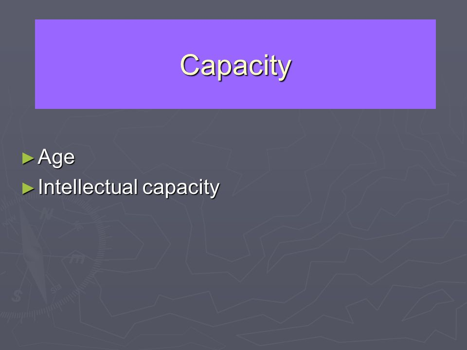 Capacity Age Age Intellectual capacity Intellectual capacity