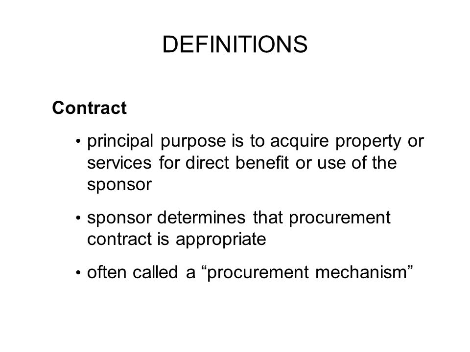SO...What is a Contract.