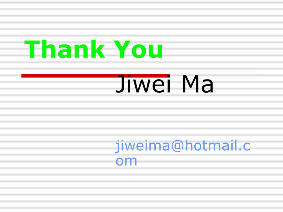 Thank You Jiwei Ma jiweima@hotmail.c om