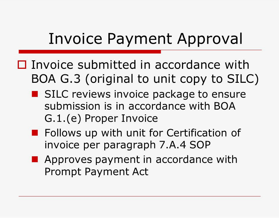 Sub-Contractor versus Non-BOA items (contd) MUST be approved by Contracting Officer…. BOA Section H.2. SUBCONTRACTS AND/OR NON- BOA ITEMS, SERVICES Di