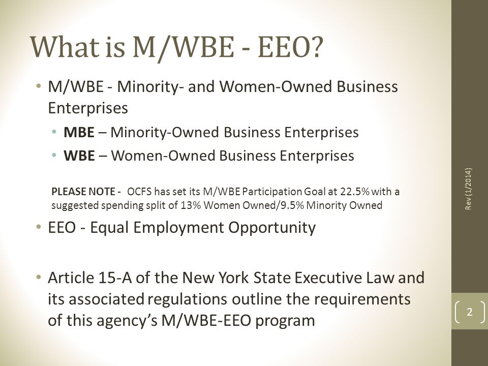 What is M/WBE - EEO.