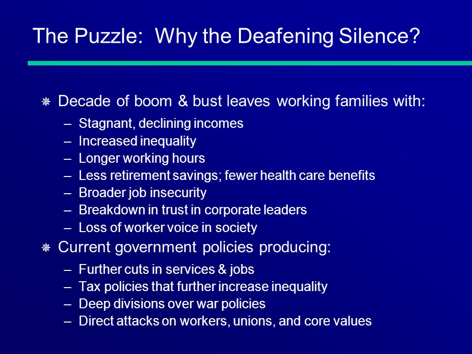 The Puzzle: Why the Deafening Silence.