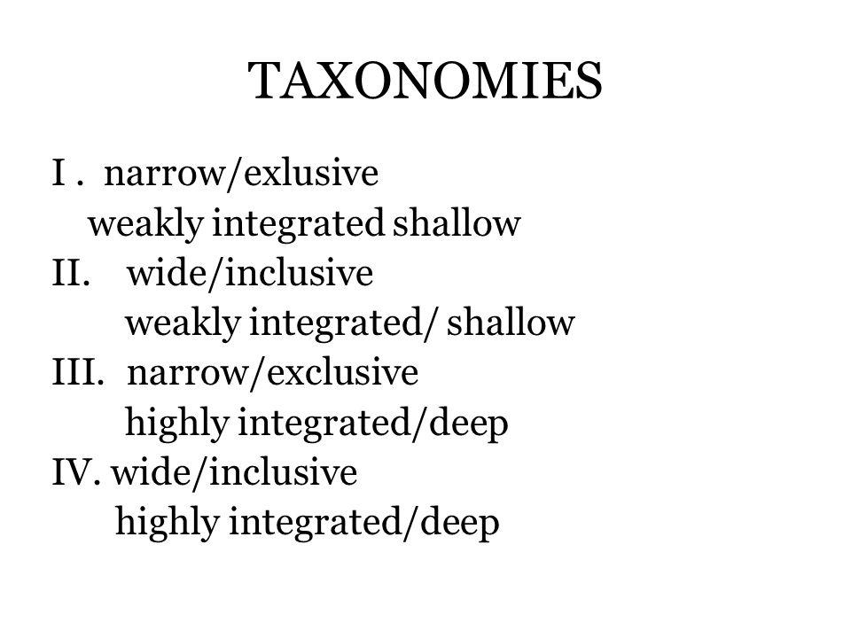 TAXONOMIES I.