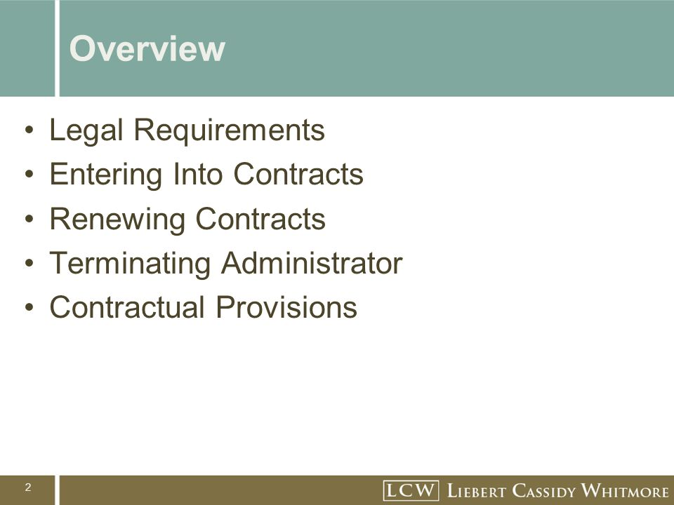 23 New Requirements If the following benefits are provided, the contract must contain provisions requiring an administrator to reimburse the district for these costs if he/she is convicted of a crime involving an abuse of his/her position: –Paid leave pending an investigation –Funds for the legal criminal defense of the administrator –Any cash settlement received related to the termination of the employment contract