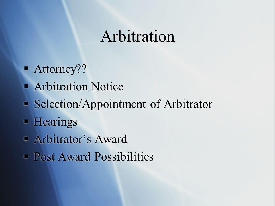 Arbitration Attorney?.