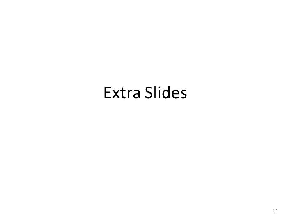 Extra Slides 12
