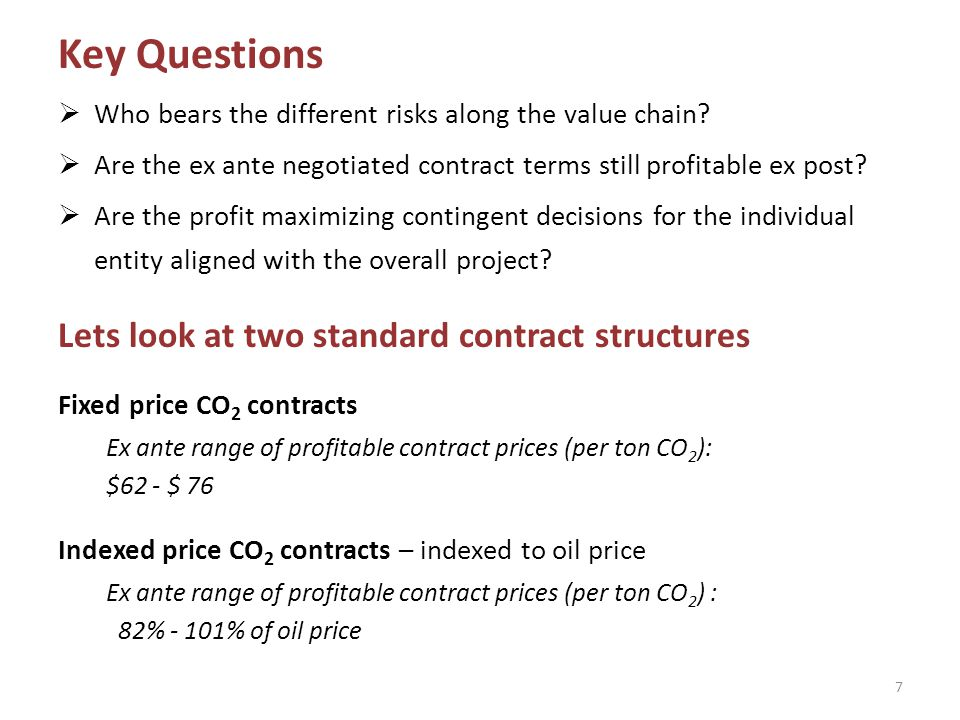 18 Contractual Profit-Sharing Negotiable Contract Terms $62-$76 per ton CO 2 delivered (for indexed price contracts: 82%-101% of oil price)