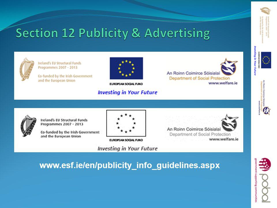 www.esf.ie/en/publicity_info_guidelines.aspx 15