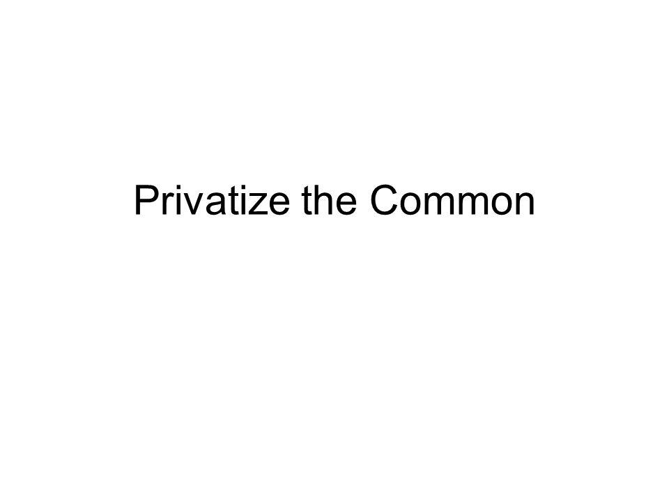 Privatize the Common