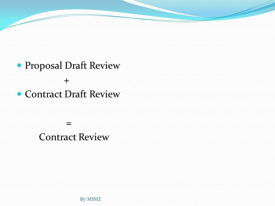 Proposal draft review objective Proposal draft review objectives 1.