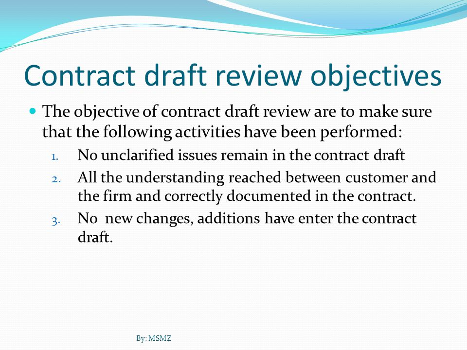 Contract Review Subject Contract review examine many subjects, and based on the contract review objectives.
