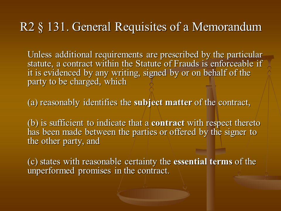 R2 § 131.