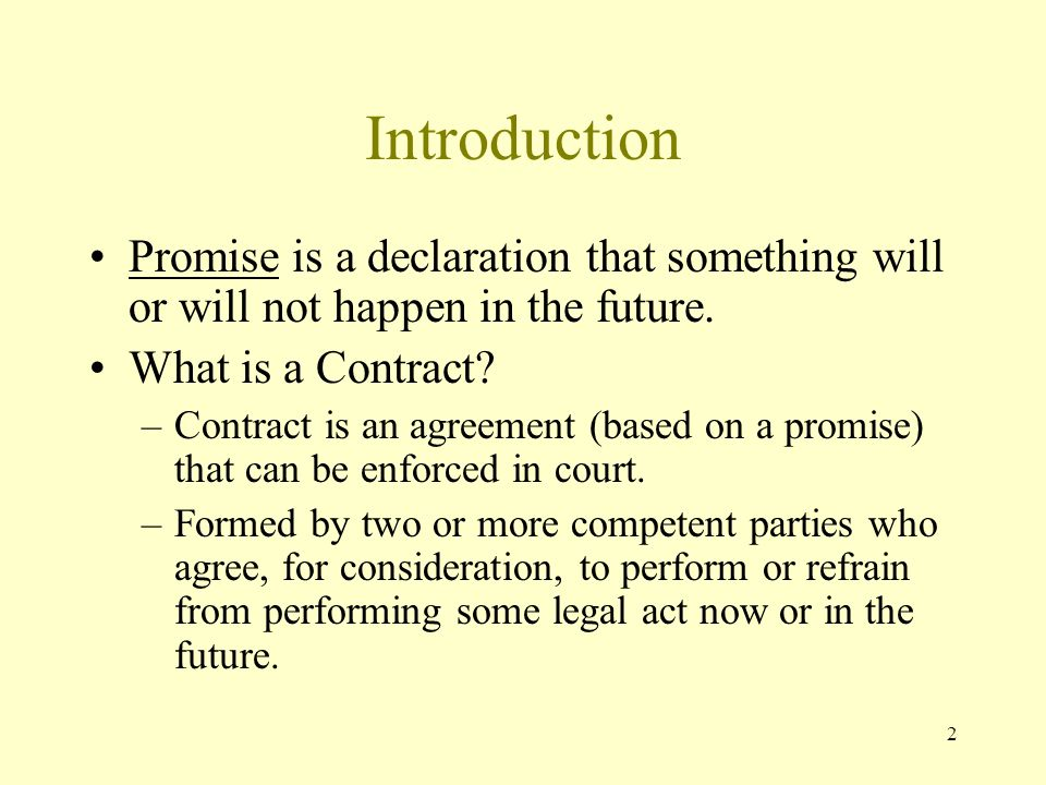 2 Introduction Promise is a declaration that something will or will not happen in the future.