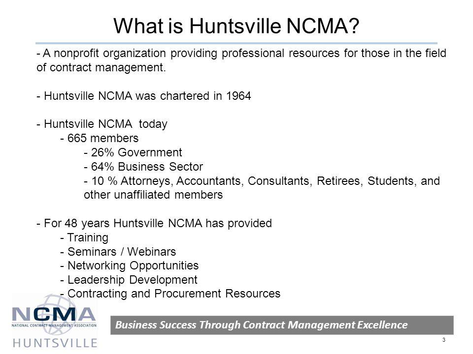 What is Huntsville NCMA.