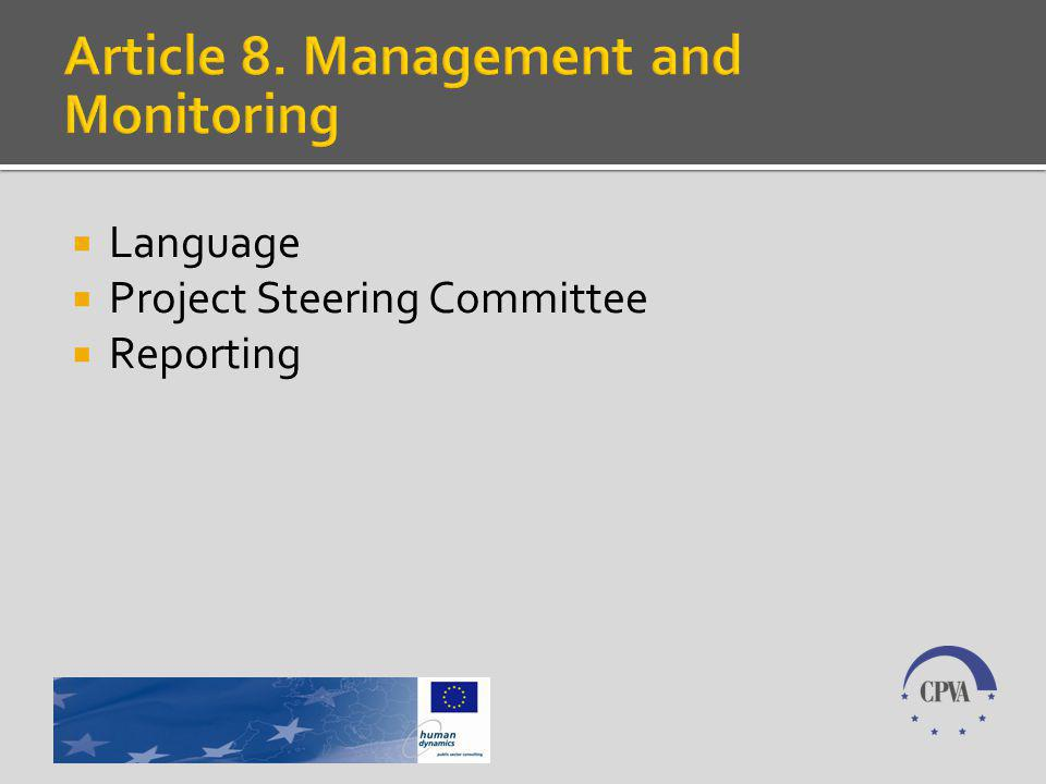 Language Project Steering Committee Reporting