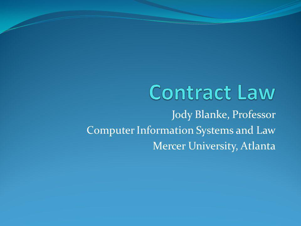 Contract Law As Private Law Willing parties can agree to do most anything Freedom of contract Meeting of the minds