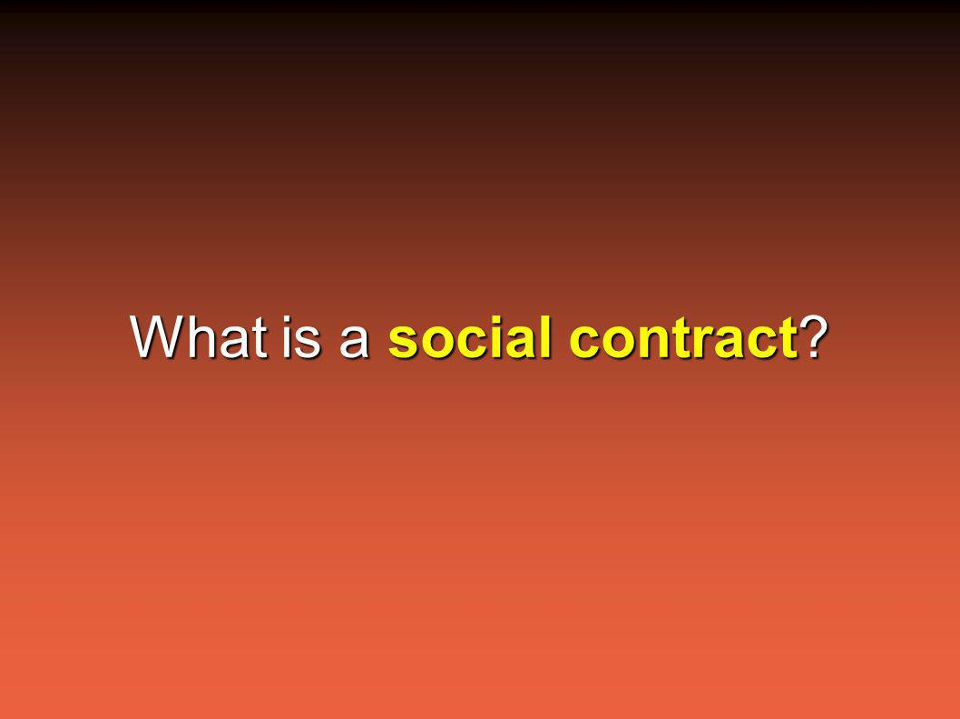 What is a social contract?