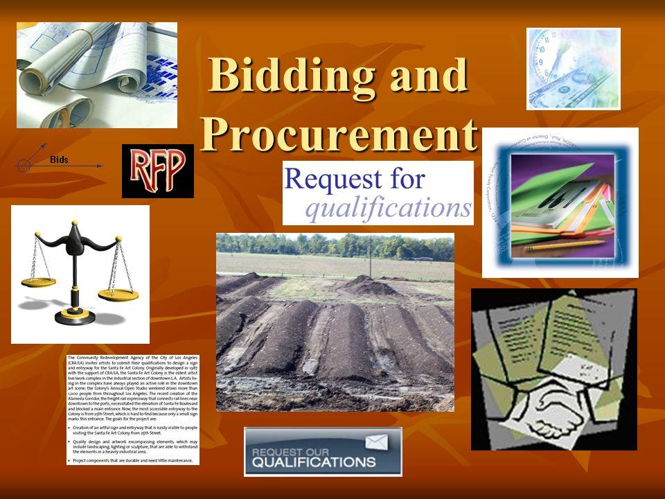 Bidding and Procurement