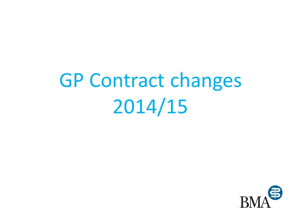GP Contract changes 2014/15