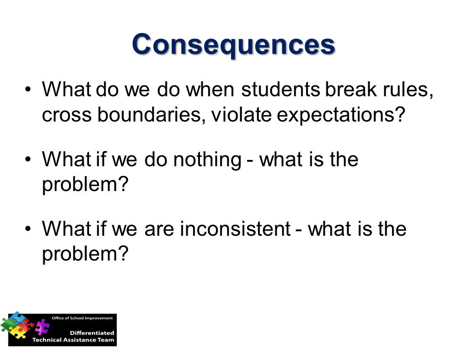 What do we do when students break rules, cross boundaries, violate expectations.