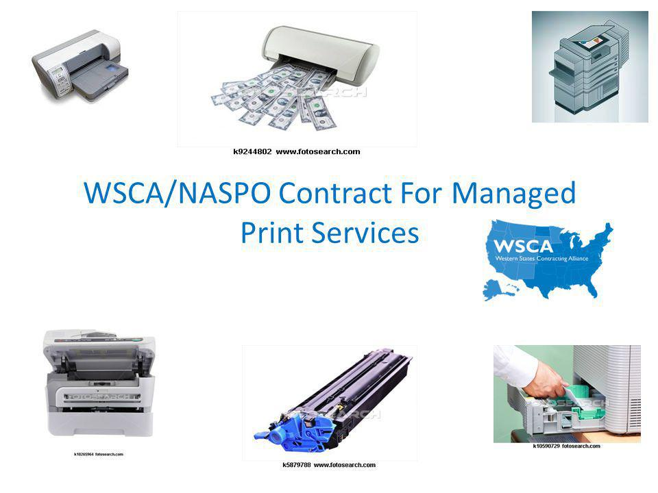 WSCA/NASPO Contract For Managed Print Services