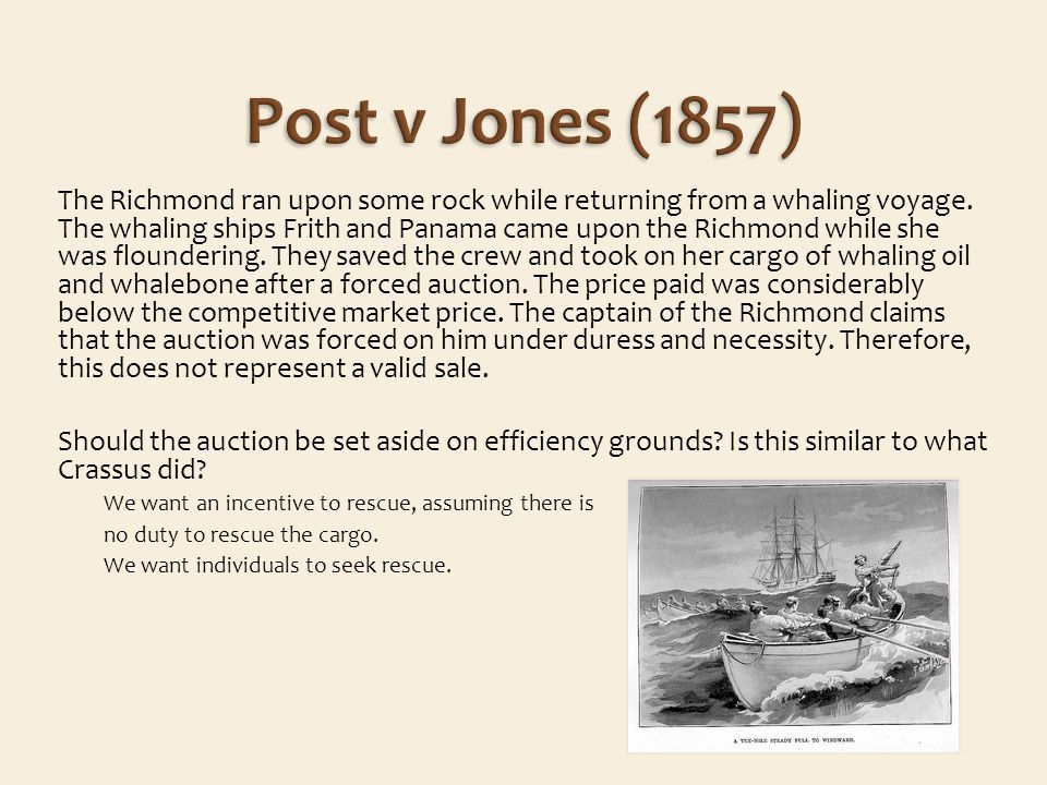 The Richmond ran upon some rock while returning from a whaling voyage.