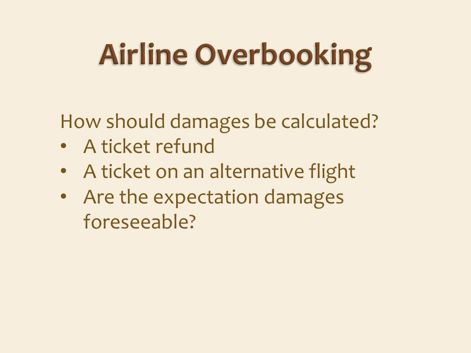 How should damages be calculated.
