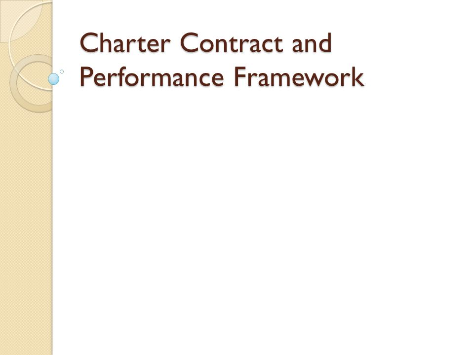 Charter Contract and Performance Framework