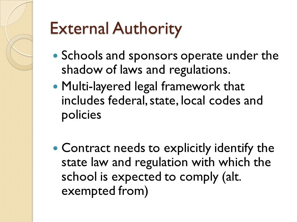 Material Terms: Categories Recitals Establishment of School Operation of School School Financial Matters Personnel Charter Term, Renewal and Revocation Operation of the Contract Sponsor Policies