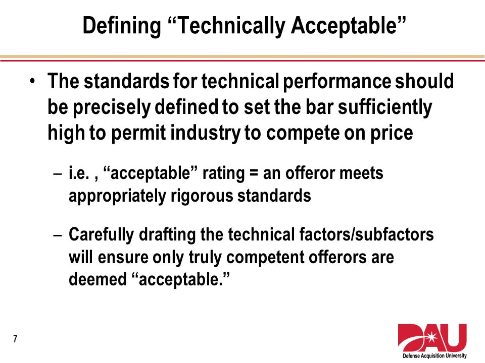 GAO Case B-406894.2 Building Solutions, Inc ContractorTechnically Acceptable Past PerformancePrice NSRYesLimited Confidence$9,873,822 BSIYesSatisfactory Confidence$10,115,232 JDDYesSubstantial Confidence $10,140,765 8 RFP stated award would be made to the offeror with the lowest priced, technically acceptable proposal that had received a past performance rating of substantial confidence.