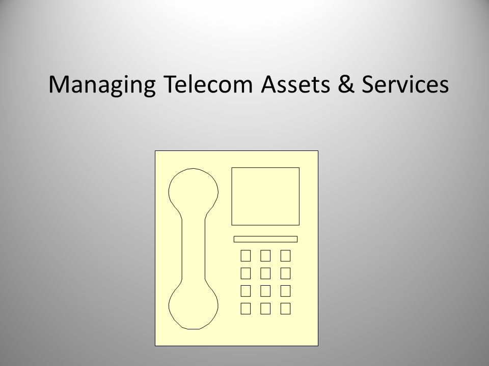Managing Telecom Assets & Services