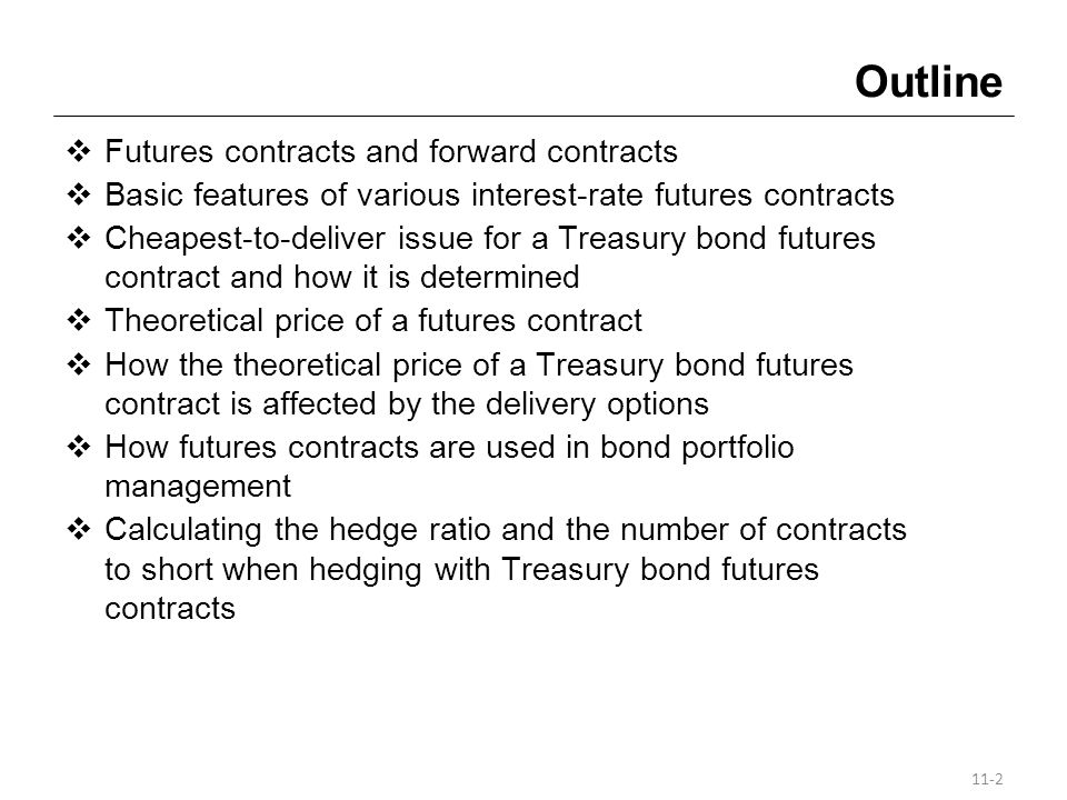 Futures Contracts A futures contract is a firm legal agreement between a buyer (seller) and an established exchange or its clearinghouse in which the buyer (seller) agrees to take (make) delivery of something at a specified price at the end of a designated period of time.