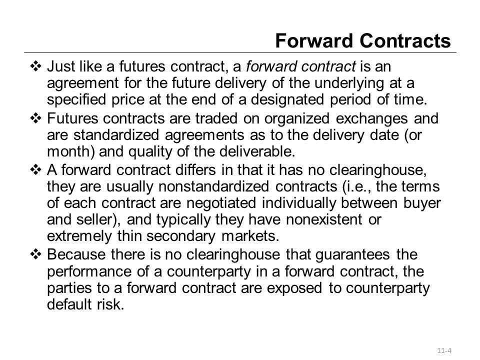 Key Differences Between Futures And Forwards Futures are standardized contracts, which reduce transaction costs.