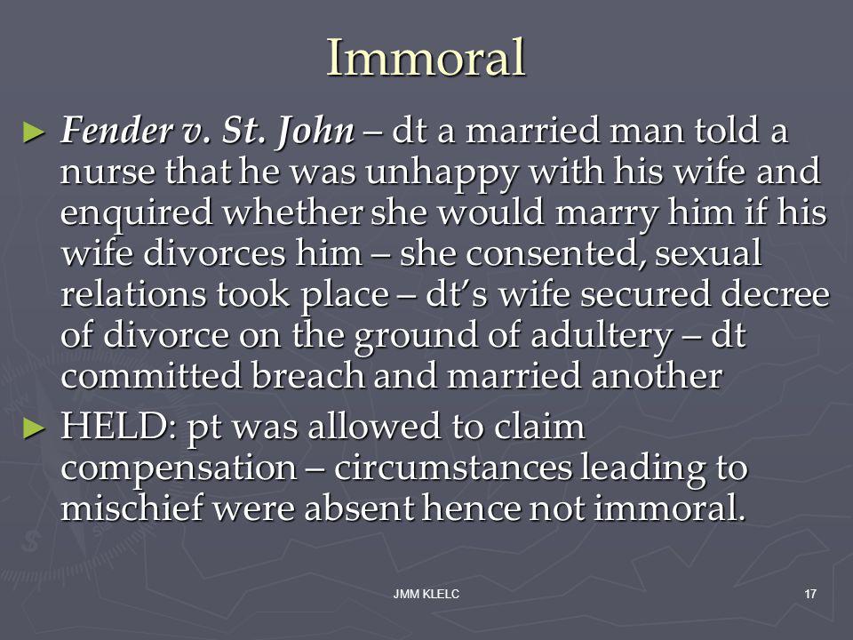 Immoral Fender v. St.