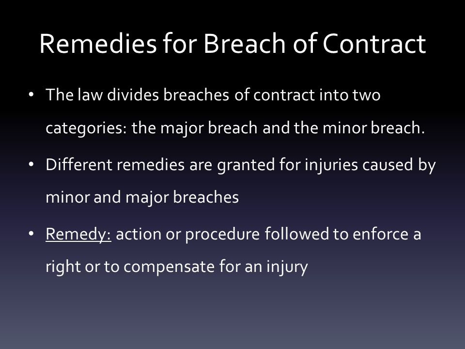 Remedies For Breach Of Contract Pages By Lauren Conroy  Ppt Download