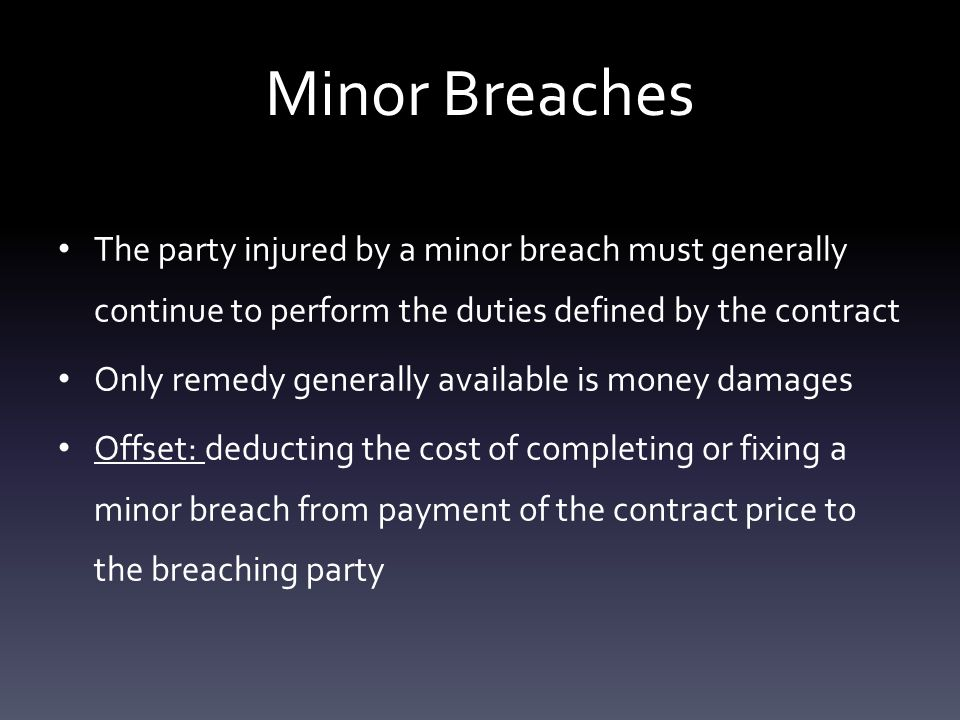 Remedies For Breach Of Contract Pages By Lauren Conroy. - Ppt Download