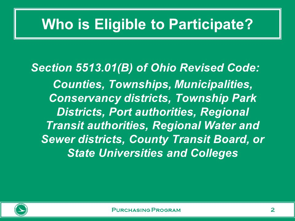 3 Why Use ODOT Co-op Contracts? Purchasing Program