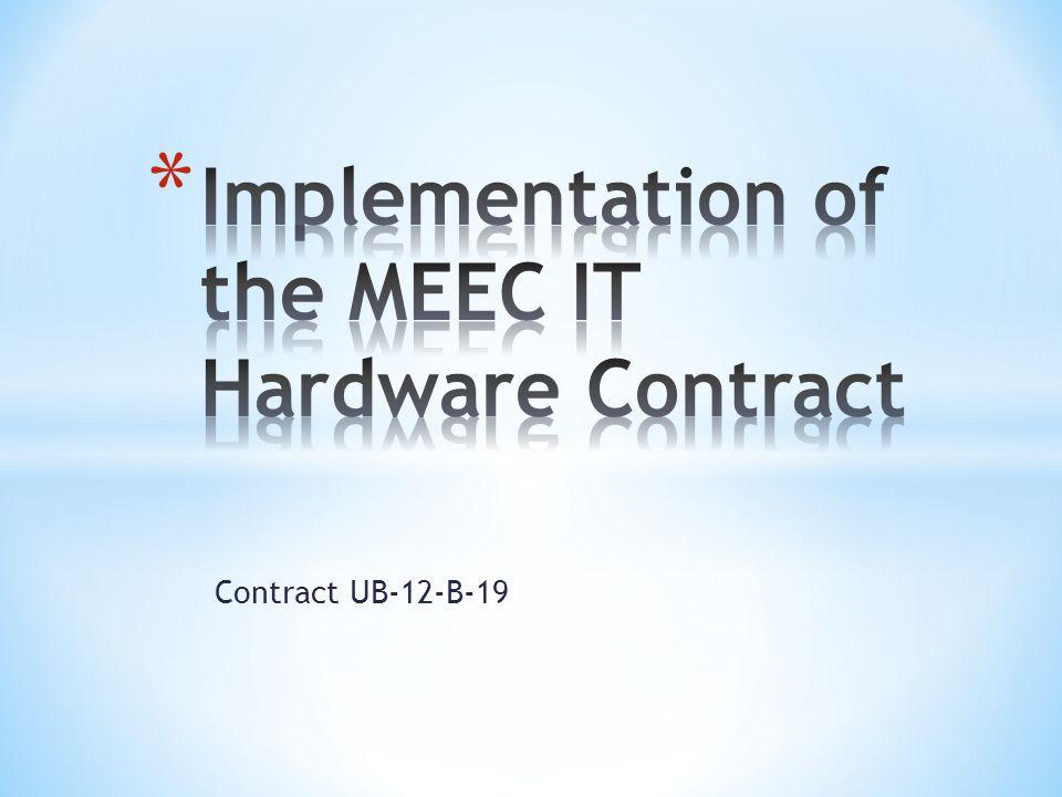 Contract UB-12-B-19