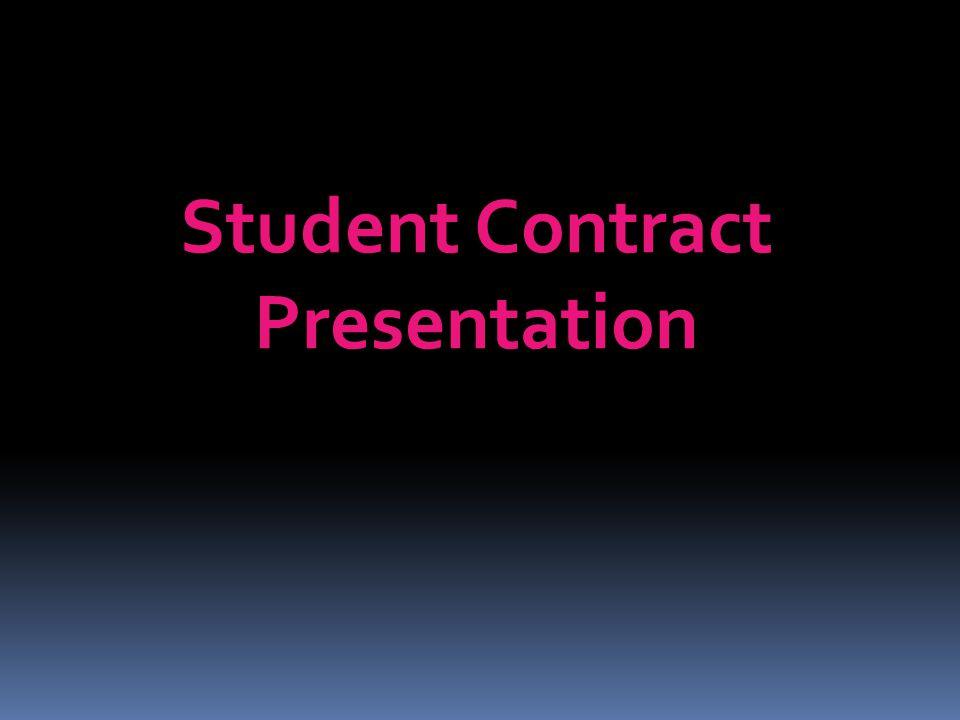 Student Contract Presentation