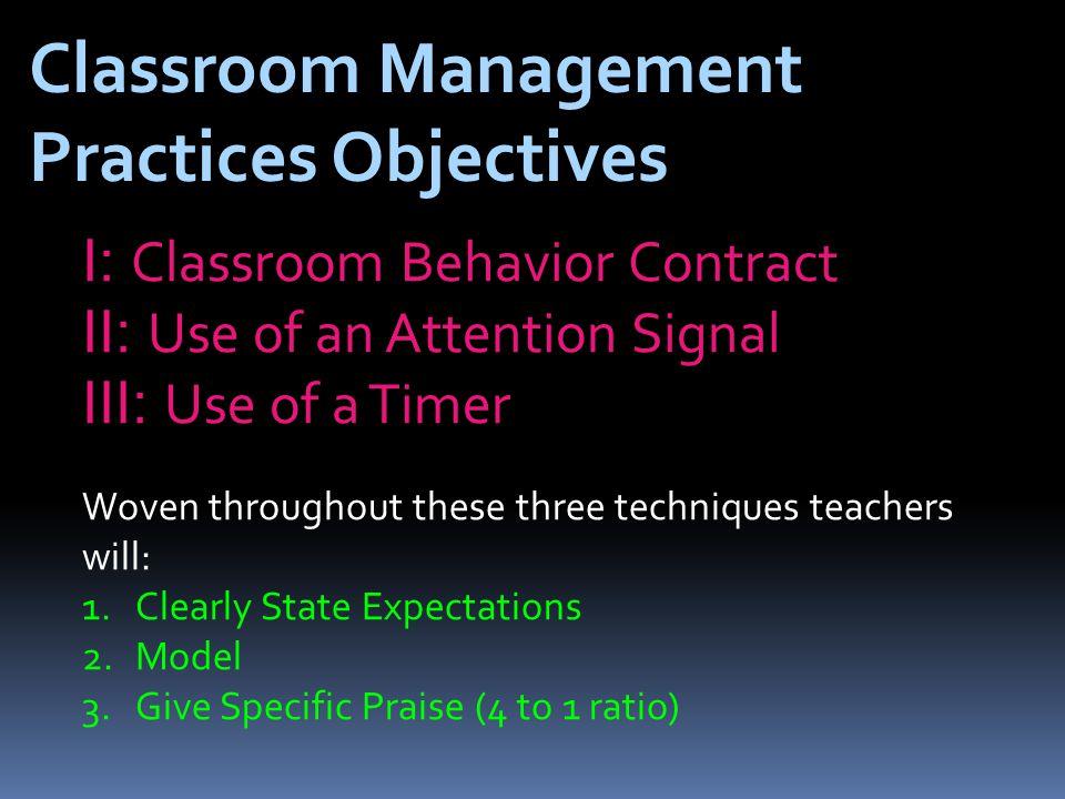 Classroom Behavior Contract