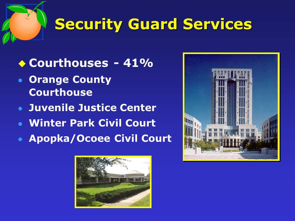 Security Guard Services Courthouses - 41% Orange County Courthouse Juvenile Justice Center Winter Park Civil Court Apopka/Ocoee Civil Court
