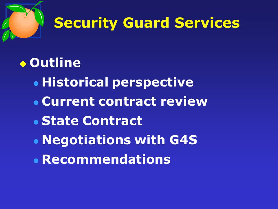 Security Guard Services Anticipated Usage Net Savings Current Contract $5,528,296$0.00 State Contract (G4S) $4,902,783$625,513 Proposed Rate Reduction $5,032,020$496,276