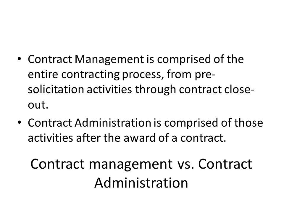 Contract management vs.