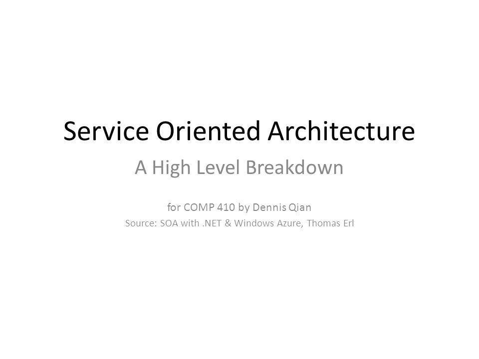 What is Service-Oriented Computing.