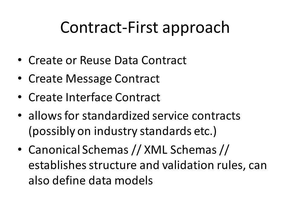 Data Model Transformation avoid this shit at run time, which is why we used Standardized Service Contract principle example: services encapsulating legacy systems inevitably need to transform data between legacy data models and standardized data models Service B : schema1 -> transform schema -> schema2 : Service A