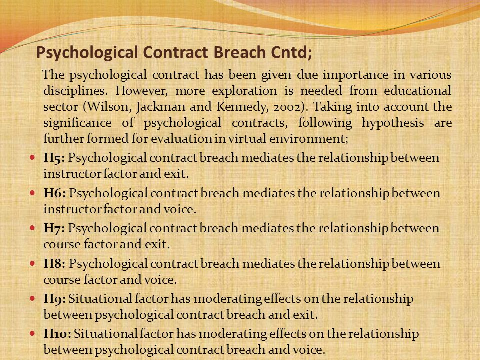The psychological contract has been given due importance in various disciplines. However, more exploration is needed from educational sector (Wilson,