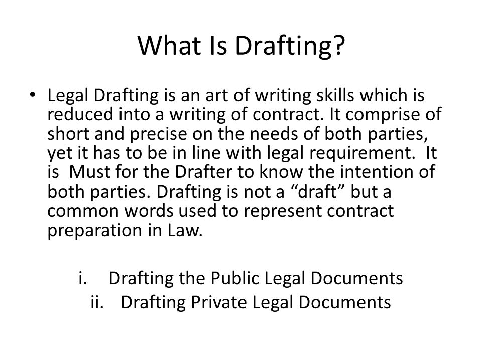 What Is Drafting.