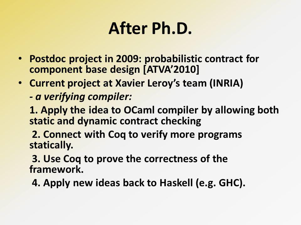 After Ph.D.