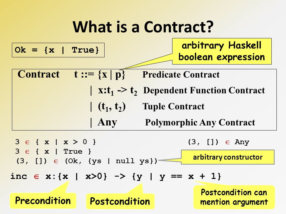 What exactly does it mean to say that et e satisfies contract t? e t