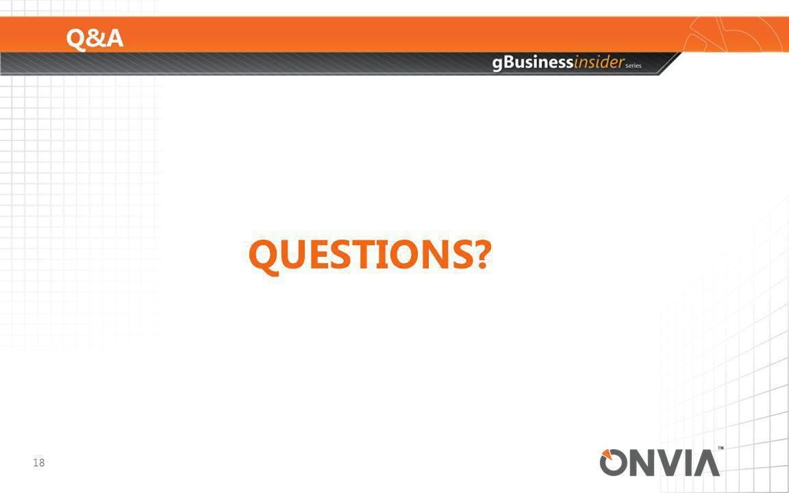 Q&A 18 QUESTIONS